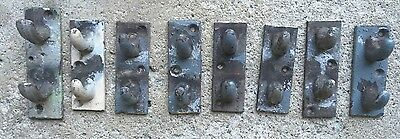 Vtg Cast Iron Steam Radiator Pipe Bracket Industrial Hook Antique Clothing Towel