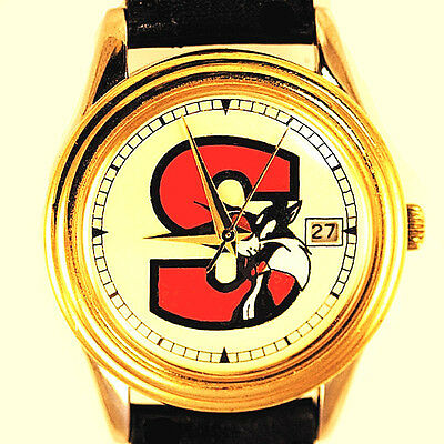 Sylvester Cat Date Easy Read White Dial Fossil Warner Bros New Unworn Watch! $39