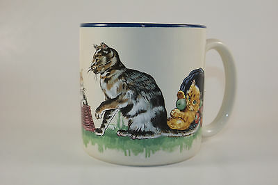 1991 Potpourri Press Cats at Play Mug