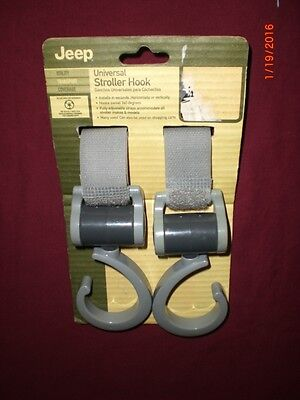 Jeep Universal Stroller Hook 360 Degree Swivel Adjustable Straps New