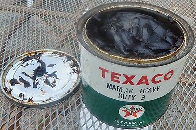 Vintage Texaco Marfak 5 Pound Can  Heavy Duty 3 Grease Dated O5/59  5.5 Pounds