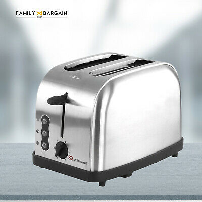 PRO Modern  2 Wide Slice Cool Touch Toaster 6 Level Browning Control SILVER