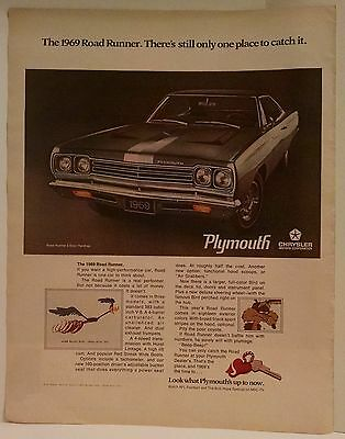 1969 Plymouth Road Runner Vintage Car Ad