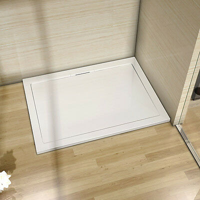 New 1400x800x40mm Walk In Rectangle Shower Enclosure Stone Tray Free Waste Trap
