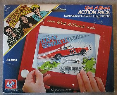 Dukes of Hazzard General Lee Daisy Duke Etch a Sketch Action Pack Screens