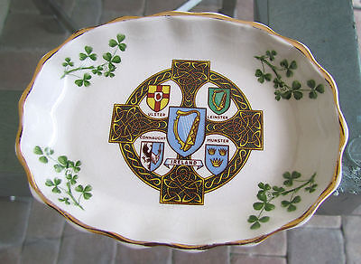Rare Vintage Irish Porcelain Provinces Pin Dish By Arklow Made in Ireland