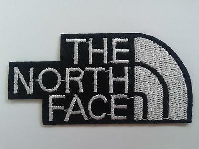 THE NORTH FACE IRON ON EMBROIDERED PATCH VEST 7.5cm x 3.7cm BESTICKT FABRIC