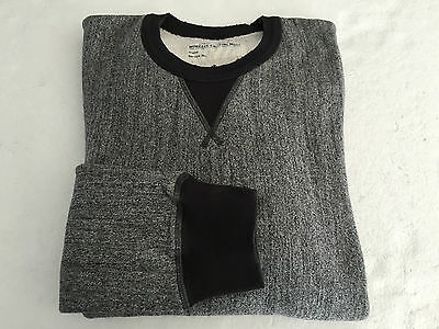 Worker knitting mills Men's sweater grey melange 100% cotone Made in Italy