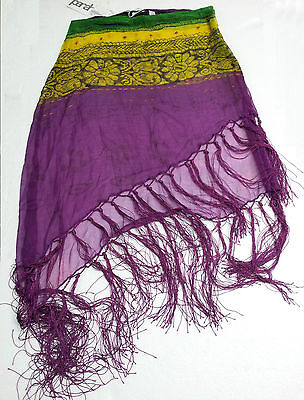PARAH gonna donna copricostume con frange 100 % polyester MADE IN ITALY