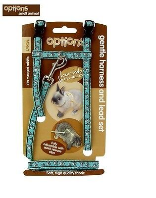 Boredom Breakers Options Harness and Lead Set Large Blue Pets Small Animals