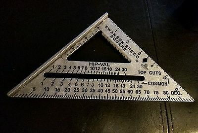 """New Swanson Tool Co 7"""" Speed Square Measuring tool"""