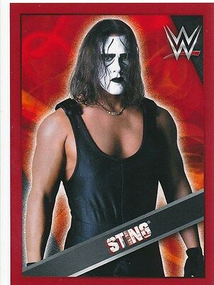 #86 STING 2016 Topps WWE THEN NOW FOREVER Sticker l