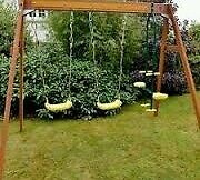 New Plum Colobus Double Swing with Glider Set RRP £250