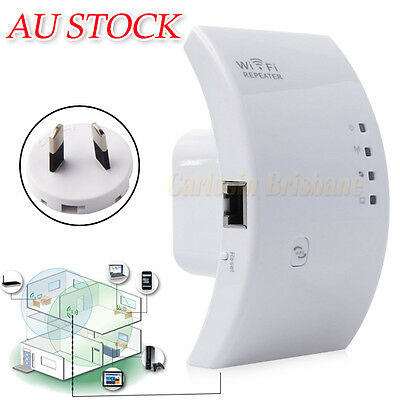 Wireless 300Mbps N 802.11 AP Wifi Range Router Repeater Booster Extender AU Plug