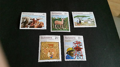 Botswana 1976 Sg 381-385 10Th Anniv Of Independence. Mnh