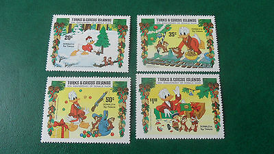 Turks And Caicos Islands 1984 Sg 823-827 Chistmas Anniv Of Donald Duck  Mnh