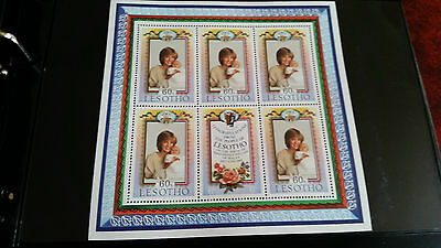 Lesotho 1982 Sg 521-522 Birth Of Prince William Sheet.mnh