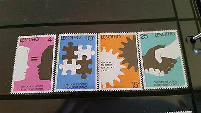 Lesotho 1977 Sg 343-346 Decade For Action To Combat Racism. Mnh