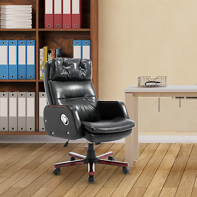 360 Degree PU Leather Computer Office Chair Adjustable Armrest Remote Control