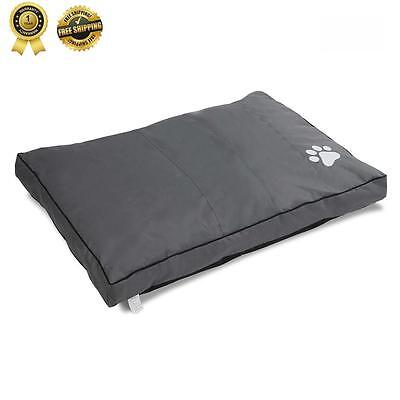 PET BED Mattress Dog Cat Pad Mat Deluxe Cushion Pillow Soft Canvas Washable New
