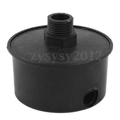 16mm Black Male Threaded Filter Silencer Mufflers for Air Compressor Intake UK