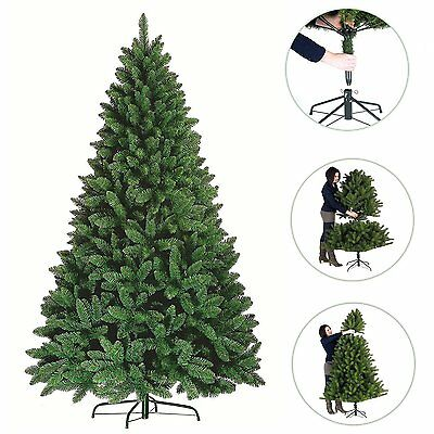 6/6.5/7/8FT Artificial Deluxe Christmas Tree Green Metal Stand Xmas Decorations