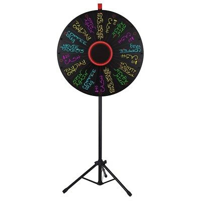 "WinSpin® 30"" LED Prize Wheel 18 Slot Floor Stand Tradeshow Carnival Spin Game"