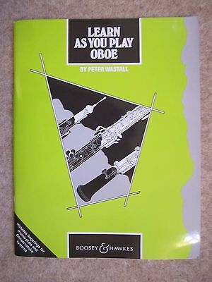 Learn As You Play Oboe by Peter Wastall *NEW*