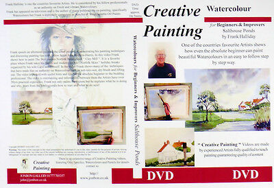 Watercolour Painting DVD how to, Salthouse Ponds Norfolk Frank Halliday 2004