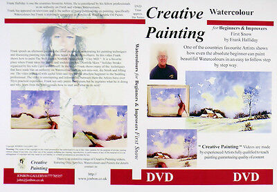 Watercolour Painting DVD How to paint First Snow Norfolk Frank Halliday 2004
