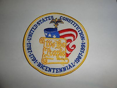 Military Patch United States Constitution We The People Bicentennial Huge 5 Inch