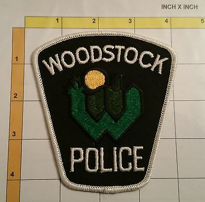 Canada Woodstuck Public Safety Police Dept Obsolete Patch