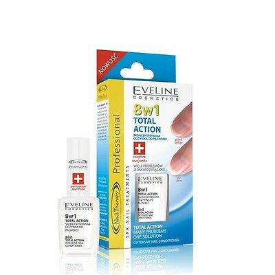 EVELINE INTENSIVE NAIL CONDITIONER 8in1  total action 12ml PROFESSIONAL SPA
