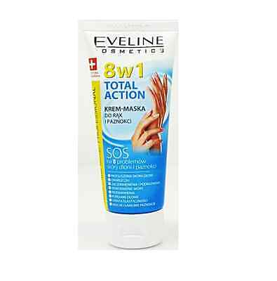 EVELINE 8in1 TOTAL ACTION HAND NAIL CREAM MASK SOS THERAPY SWISS RECIPE