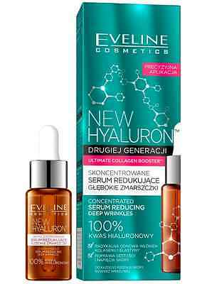 Eveline New Hyaluron Concentrated Serum Reducing Deep Wrinkles 100% Hyaluronic