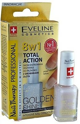 EVELINE COSMETICS NAIL THERAPY 8IN1 TOTAL ACTION NAIL CONDITIONER golden SHINE