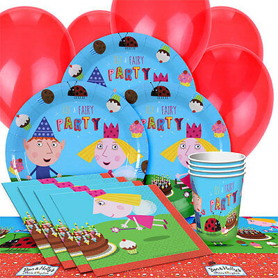 Ben And Holly Girls Boys Birthday Party Pack 16 Tableware