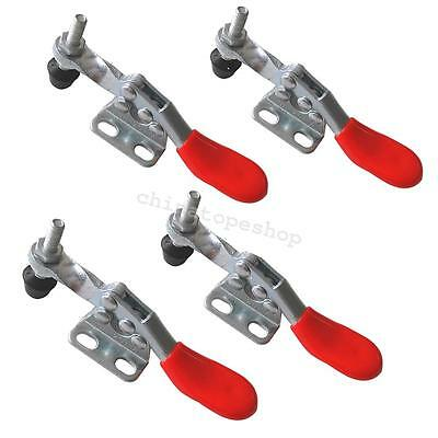 4pcs Metal Horizontal Quick Release Hand Tool Hold-down Toggle Clamps GH-201A