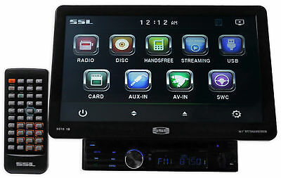"SSL SD10.1B Single Din 10.1"" Touchscreen Multimedia Car Stereo Receiver w. DVD"
