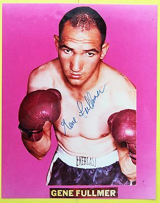 Autographed Boxing Photo: Gene Fullmer