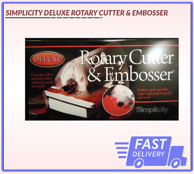 Deluxe Rotary Cutter & Embosser Simplicity Same Day Dispatch Fast Delivery
