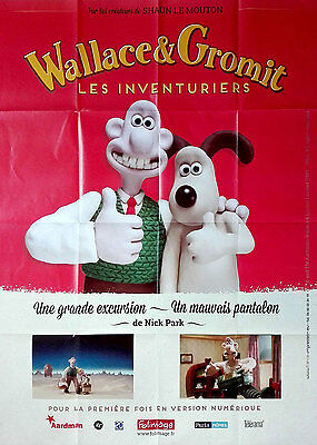 2016RR WALLACE & GROMIT A GRAND DAY OUT French 47x63 film poster