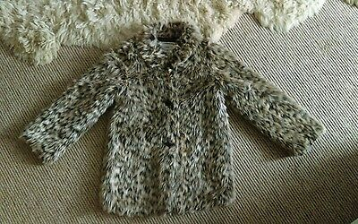 girls faux fur jacket age 8-9