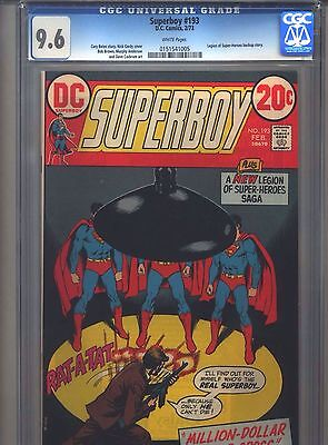 Superboy #193 CGC 9.6 (1973) Legion Backup Story Dave Cockrum White Pages