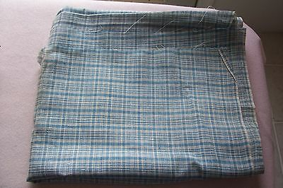 Vtg Antique 1800's 19TH Century Fabric Quilt Doll Dress Blue Check