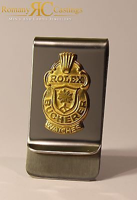 Genuine Rolex Chrome Money Clip from Collectors Spoon 18ct Gold Dipped