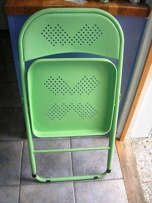Unusual Metal Folding CHAIR Conservatory Kitchen Patio Bedroom Garden Used vgc