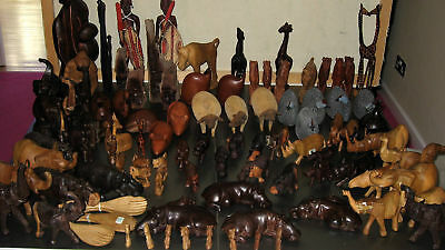 STOCK CLEARANCE~approx 70 PIECES~WOOD CARVED ANIMALS~BN