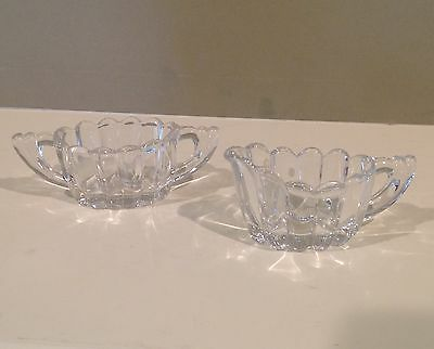 Heisey Crystolite Individual Creamer and Open Sugar Bowl