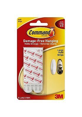 Command Mounting Refill Strips - Large, Pack of 6 strips